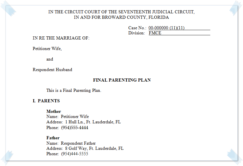 how to get legal custody of a child in florida